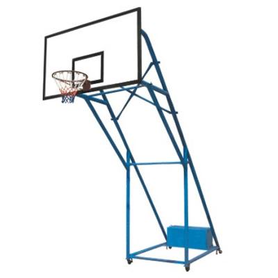 75管加箱加轮全移动篮球架(配玻璃钢板)