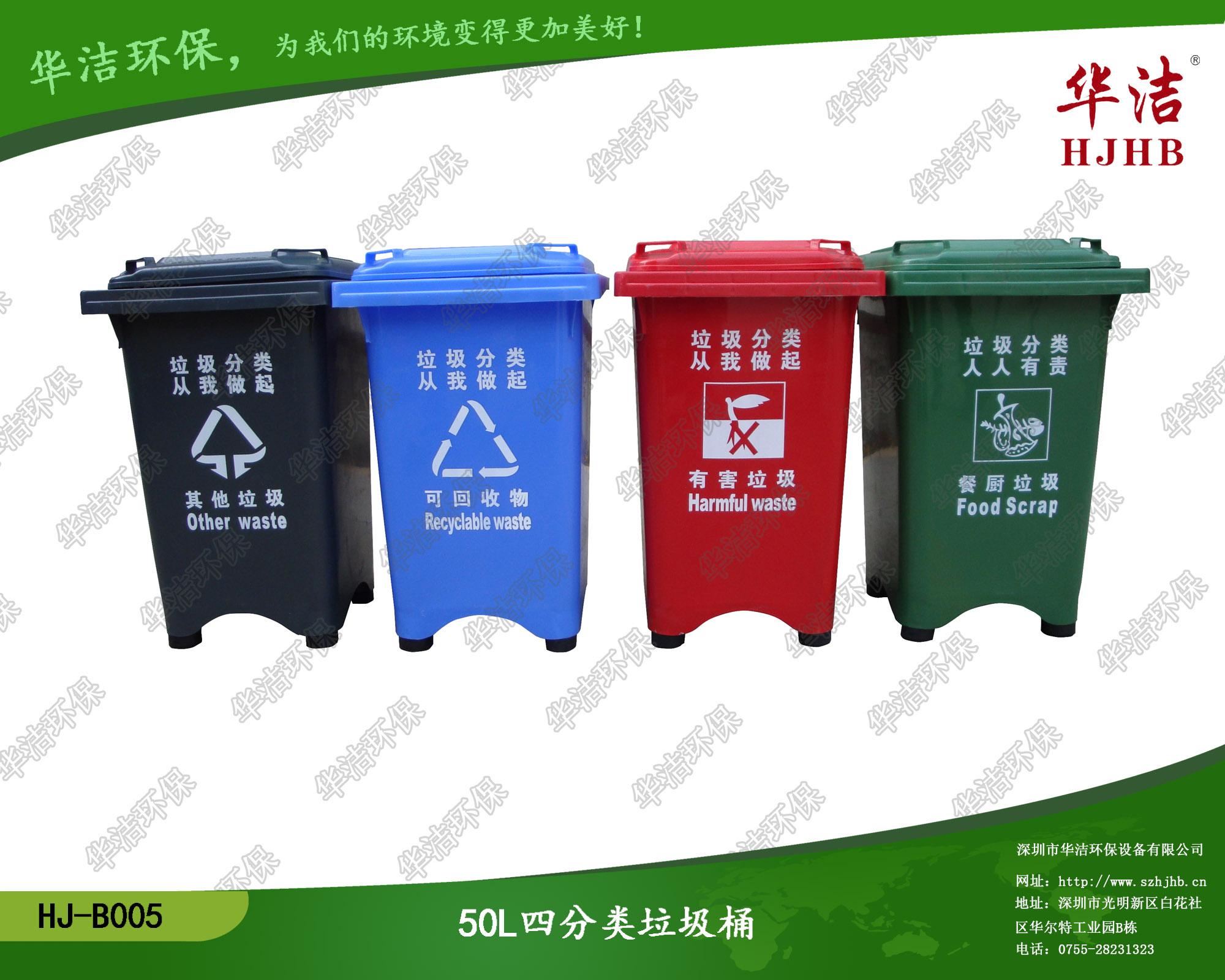 分类垃圾桶的颜色,标示分别代表什么?